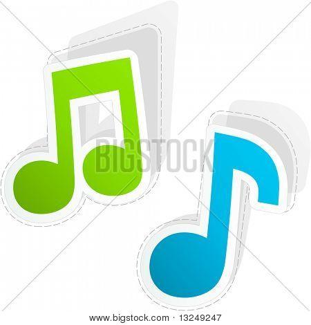Music sticker set.