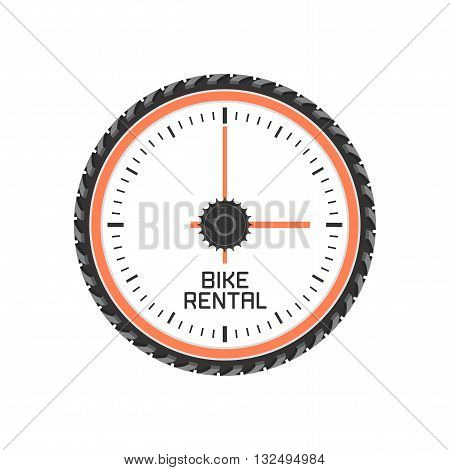 Bicycle shop rental vector logo. Bicycling concept