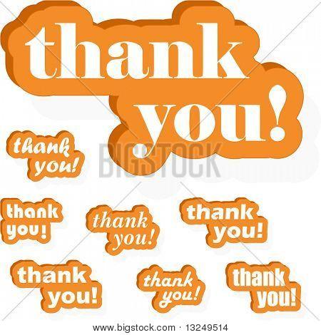 THANK YOU! Vector collection.