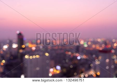 abstract night cityscape blur background can be used for montage or display your products