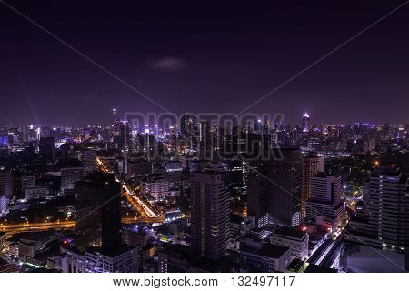 urban city view of night from capital city - can use to display or montage your product