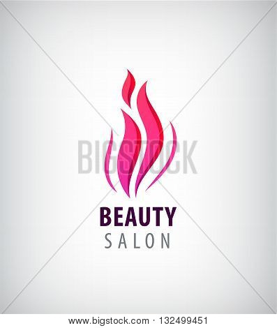 Spa and Beauty nature symbol and concept, . Abstract design concept for beauty salon, massage, cosmetic and spa. Vector logo design template