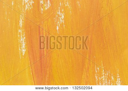 Abstract yellow painting closeup as a background