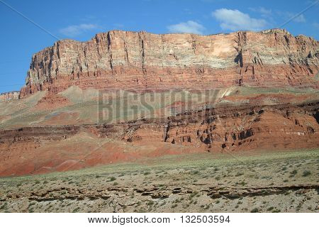 layers of colored rock at Vermillion Cliffs in northern Arizona