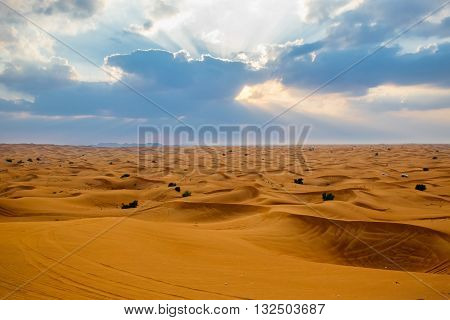 Sandy Desert in Dubai United Arab Emirates