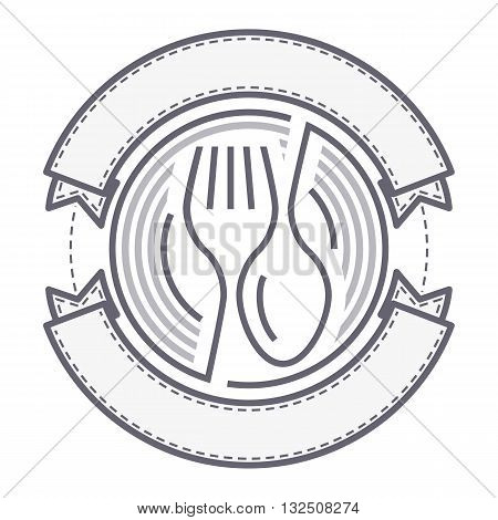 Food service logo with spoon and fork