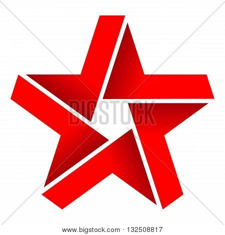 Ribbon shape star icon vector illustration isolated