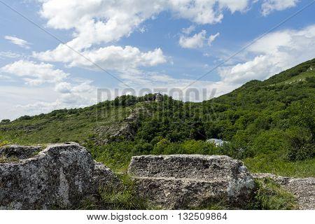 Aeolus Harp and mountain Mashuk in Pyatigorsk,Caucasus,Russia.