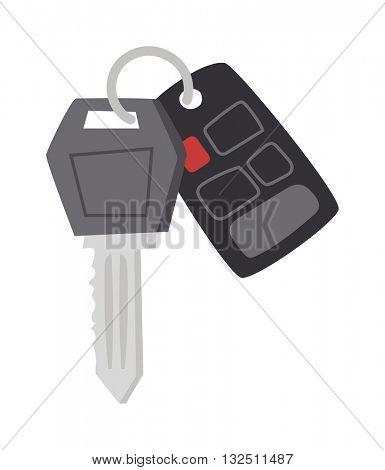 Car keys vector illustration.