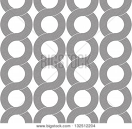 The geometric lineal pattern. Seamless vector background. Black and white texture.