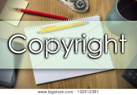 Copyright -  Business Concept With Text