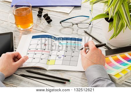 Calendar Events Plan Planner Organization Organize - stock image.
