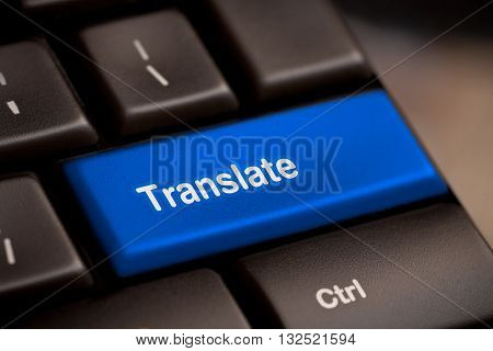 Translate Computer Key In Showing Online Translator