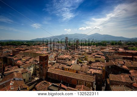 View Of Lucca And Duomo Di San Martino, Lucca, Italy