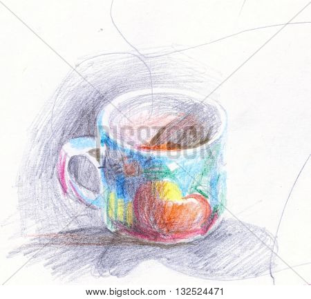 Colorful abstract pictorial drawing creative artistic work
