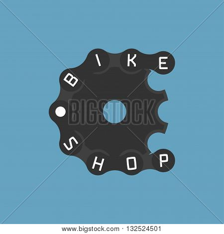 Bicycle shop vector logo design element. Bicycling concept