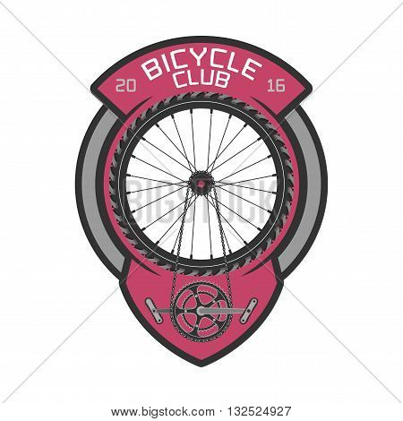 Bicycle club vector template logo design element. Bicycling concept
