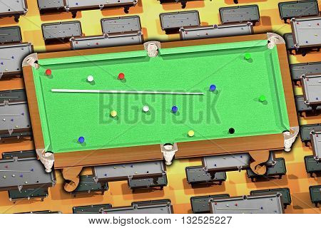 Billiards. the background of Billiards tables. 3D visualization