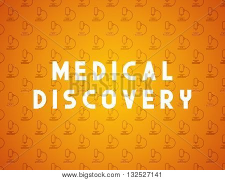 Medicine concept medical discovery. Creative design elements for websites, mobile apps and printed materials. Medicine banner design
