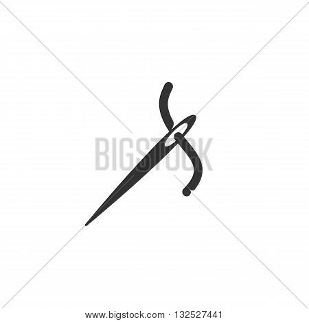 Needle icon on white background. Needle logo element for template. Modern vector pictogram for web graphics. Flat design style. Vector illustration. - stock vector