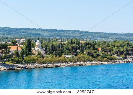 Brac Croatia - May 07 2016: Petrinovic Mausoleum Brac island