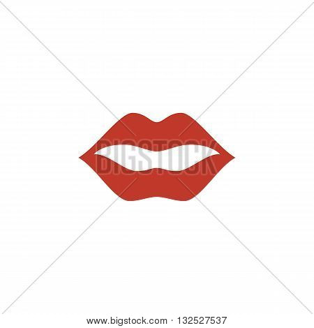 Lips icon on white background. Lips logo element for template. Modern vector pictogram for web graphics. Flat design style. Vector illustration. - stock vector