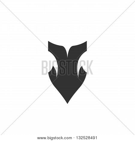 Arrow icon on white background. Arrow vector logo. Flat design style. Modern vector pictogram for web graphics. - stock vector