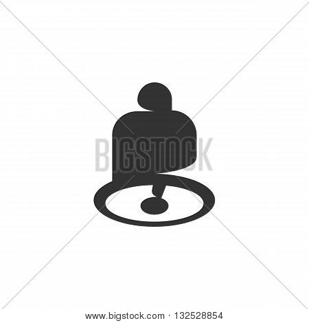Bell icon on white background. Bell vector logo. Flat design style. Modern vector pictogram for web graphics. - stock vector