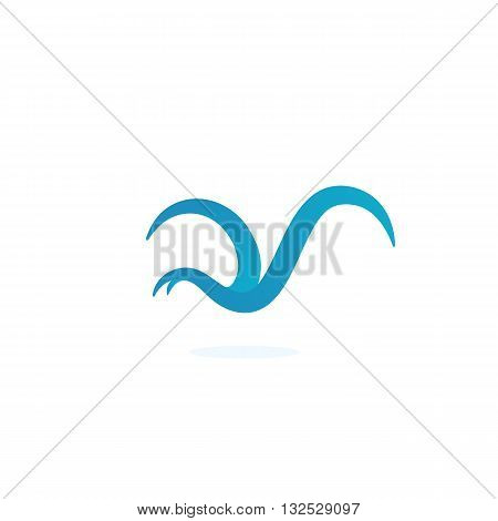 Bird icon on white background. Bird logo element for template. Modern vector pictogram for web graphics. Flat design style. Vector illustration. - stock vector