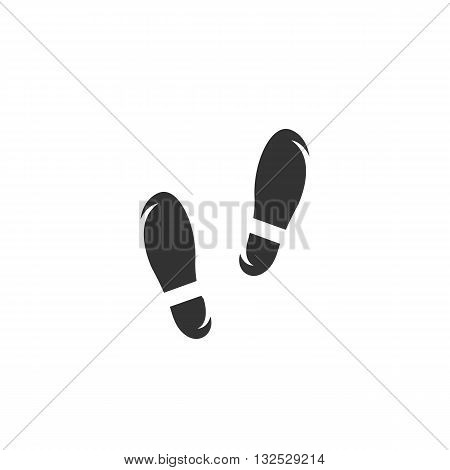 Footprints icon on white background. Footprints logo element for template. Modern vector pictogram for web graphics. Flat design style. Vector illustration. - stock vector