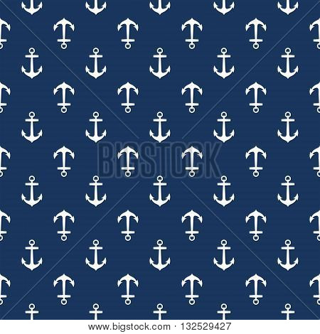 Seamless nautical pattern with anchors. Design element for wallpapers