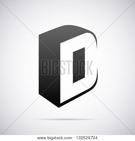 Logo for letter D design template vector illustration