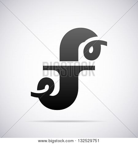 Logo for letter F design template vector illustration
