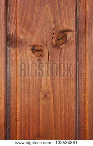 wooden plank with with walnut and shafts