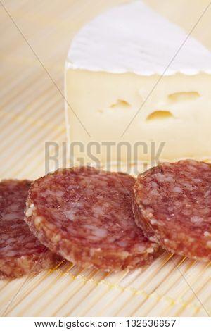 Delicious Camembert And Salami