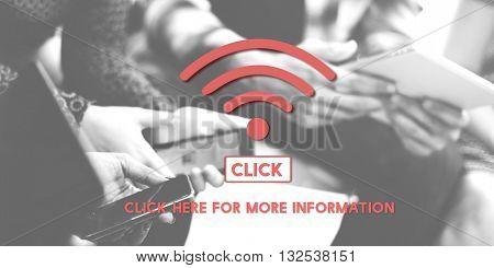 4G Wireless Internet Networking Online Concept