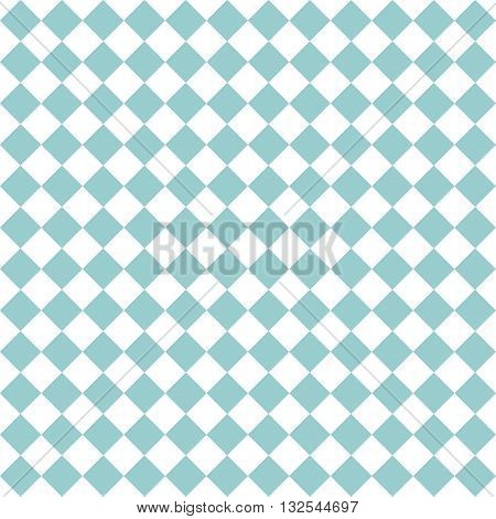 Checkered tile vector pattern or mint blue and white wallpaper background