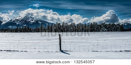 Winter Landscape Wyoming Hazelton Peak