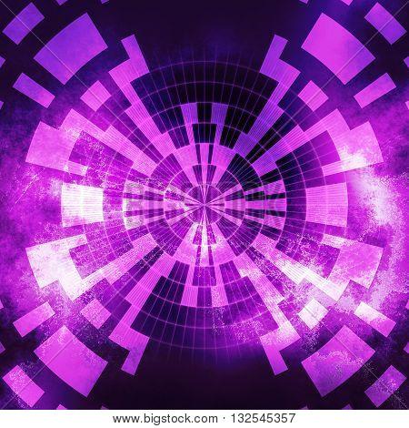 Pink dark stardust geometric digital abstract background