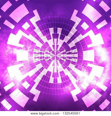 Pink white stardust geometric digital abstract background