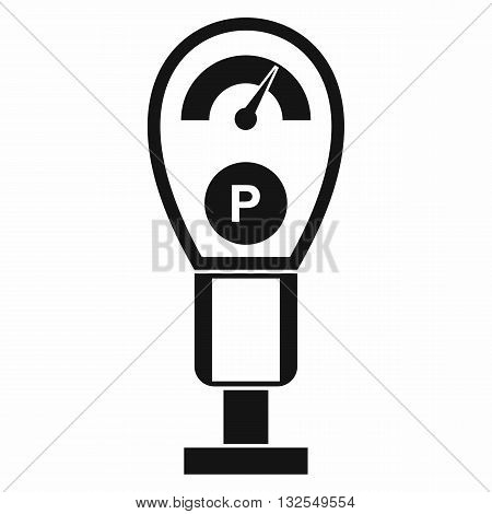 Parking meters icon in simple style isolated on white background