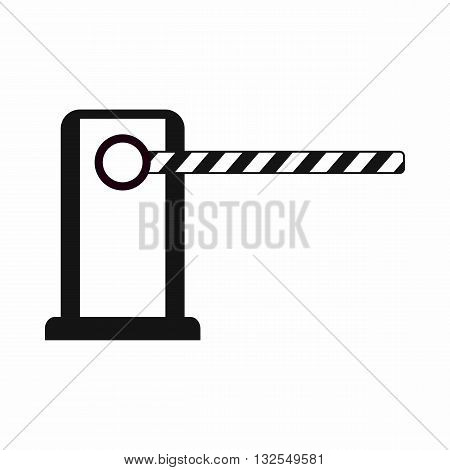 Parking entrance icon in simple style isolated on white background