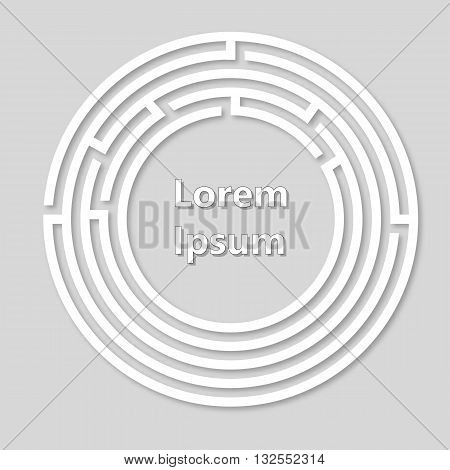 Labyrinth vector logo. Paper labyrinth. Vector illustration.