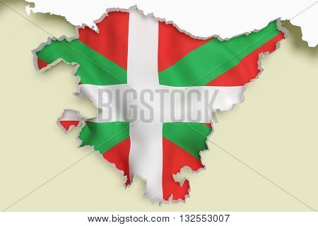 Map Of Basque Country And Flag