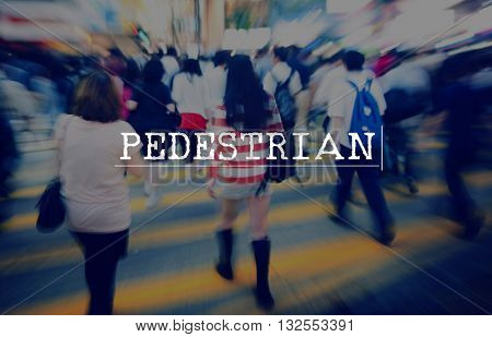 Pedestrian Hurry Rush  Crowded Motion  Concept