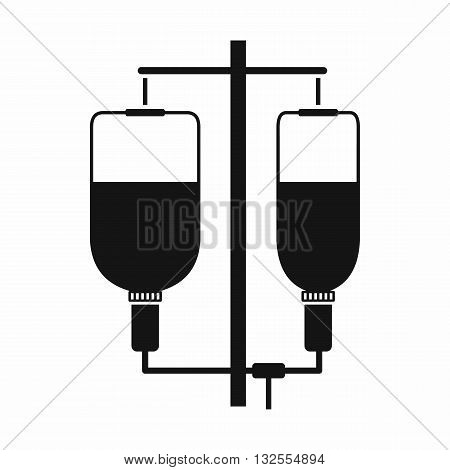 Intravenous infusion icon in simple style isolated on white background