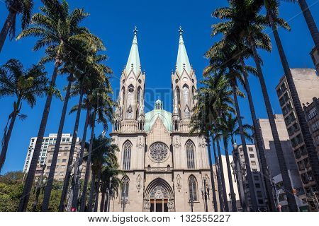 Se Cathedral In Downtown Sao Paulo