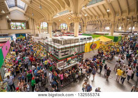 Municipal Market In Sao Paulo.