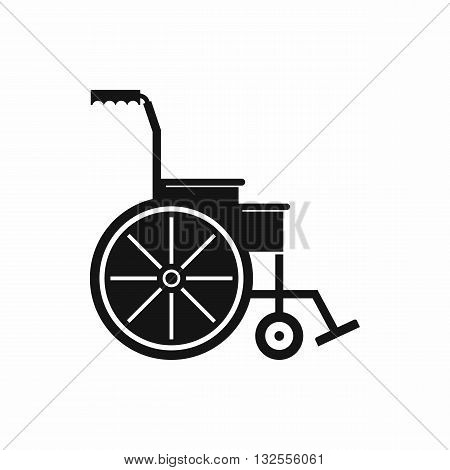 Wheelchair icon in simple style isolated on white background