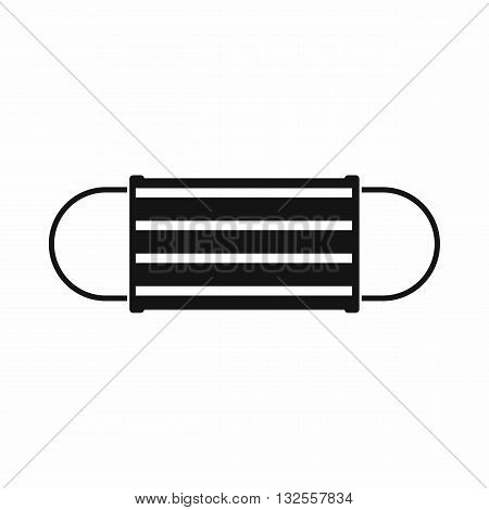 Disposable face mask icon in simple style isolated on white background